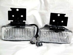 Glass Driving Fog Light Lamps w/2 Bulbs One Pair For 1997 1998 Grand Cherokee