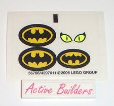 Lego STICKERS Batman Logo Dragster 7779 Catwoman Eyes * NEW Condition