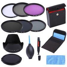 72mm UV CPL FLD ND2 4 8 ND Filter Kit Lens Hood Cap For Nikon 18-200 24-85 135mm