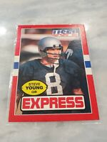 1985 Topps USFL STEVE YOUNG #65,  San Francisco 49ers, HOF PSA READY BEAUTY