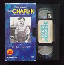 VHS Film Ita Commedia I CAPOLAVORI DI CHALIE CHAPLIN Tempi Moderni no dvd(V108)