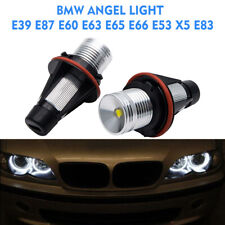FOR BMW E39 E87 E60 E63 E64 E65 E66 E53 OEM ANGEL EYES LED LIGHT 10W CREE BULBS
