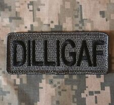 DILLIGAF USA ARMY OAF ISAF TACTICAL MORALE MILITARY BADGE ACU DARK HOOK PATCH