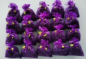LAVENDER IN ORGANZA BAGS. SET 20 BAGS OF HIGH QUALITY LAVENDER FROM TASMANIA
