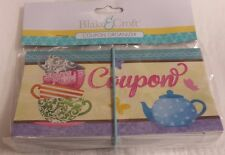 "Coupon Holder Organizer 12 Pockets-Expandable, Elastic Closure, ""Tea Set"""
