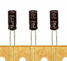 200pc Electrolytic Capacitor KZH 47uF 35V +105℃ 5000hr Nippon Chemi-Con 5x11mm