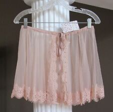 FREE PEOPLE Pink Blush Method Wrap Tulle Lace Skirt OB482068 Size XS/S NWT $38