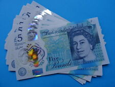 Polímero £ 5 nuevo como nuevo nota de GB/Inglaterra-emitido 2016 * UNC cinco libras