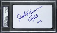 "1949 Johnny Duncan Batman and Robin Signed 3""x 5"" Index Card (PSA/DNA Slabbed)"