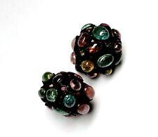 92.5 Starling Silver Tourmaline Gemstone And Beautiful Diamond Beads For You