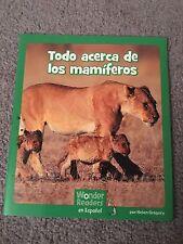 Todo acerca de los mamiferos - Wonder Readers en Espanol
