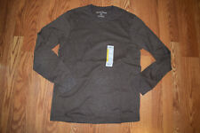 NEW Mens EDDIE BAUER Heather Oak Brown Long Sleeve Shirt Size 2XL XXL