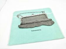 VINTAGE TIFFANY & CO. FRANK MAY STERLING SILVER MESH EVENING BAG W/CHAIN HANDLE