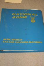 National Acme Acme-Gridley Estimating Training Manual  Free Shipping!