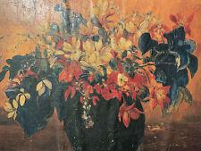 Paul Gauguin Original Oil Painting Hand Signed Flowers