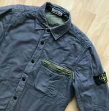 STONE ISLAND MADE IN ITALY GREY PADDED CLASSIC OVERSHIRT JACKET L casuals osti