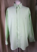 "POLO by RALPH LAUREN STRETCH Oxford Green Button Down Shirt XXL 18.5"" C49-52"""