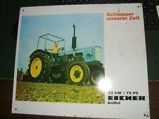 Eicher Büffel Schlepper Blechschild 39cm x 34cm