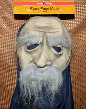 Furry Face Mask - gray eyebrows & mustache - adult one size - HALLOWEEN NWT