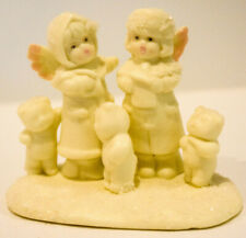 Little Miracles Angels Singing with Bears - Porcelain Russ Berrie # 35759