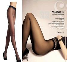 SISI collant fascino 70 den calza tutto nudo velato setificato elasticizato