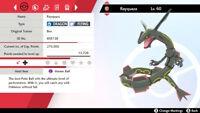 Square Shiny 6 IV Rayquaza for Pokémon Sword and Shield
