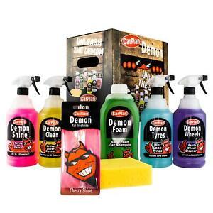 CarPlan DGP100 Demon Car Cleaning Kit Exterior Tyres Wheels & Shampoo Gift Set