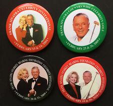 """Lot of 4 """" Frank Sinatra Celebrity Golf """" Event Badges 2004, 2005, 2009, 2010"""