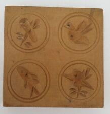 altes  Holz Model Springerle Spekulatius Backform  9,5 x 9,5 x 1,5 cm