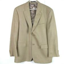 Ralph Lauren Expressly for Dillards Mens Blazer Sportcoat Sz 44 R Tan Silk Wool