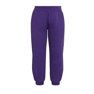 Plain Purple Jogging Bottoms Joggers Children Boys Girls Sizes Unbranded