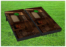 VINYL WRAPS Cornhole Boards DECALS Western Cowboy Bar BagToss Game Stickers 382