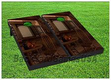 VINYL WRAPS Cornhole Boards DECALS Western Cowboy Bar BagToss Game Stickers 382