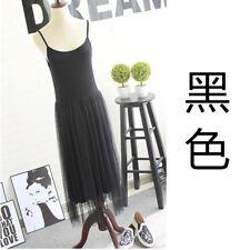 Women Extender Long Tank Slip Top Dress Extender Lace Trim Layer Lace Dress