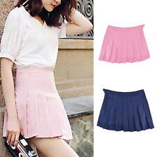 Women High Waist Slim Skirt Comfortable Mini Pleated Tennis Short Dress Playful