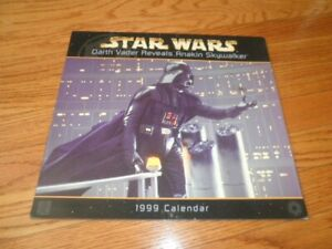 STAR WARS 1999 Calendar Darth Vader Reveals Anakin George Lucas