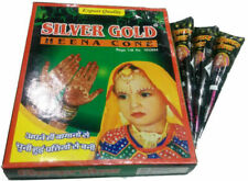 Silver Gold Henna Mehndi  X 12 Cones Natural Herbal Temporary Tattoo Body Paint