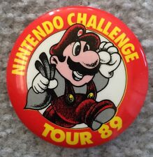 NINTENDO CHALLENGE TOUR 89 Promotional BUTTON - MARIO - USA SHIPPED