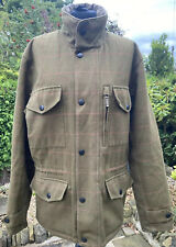 Barbour Sapper Moorhen Tweed Waterproof Breathable Shooting Field Jacket ~ Small