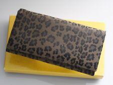 H1745K FENDI Leopard animal pattern Canvas & Leather Bifold Long Wallet