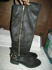 Women's Black Faux Leather Boots By Mossimo size 9
