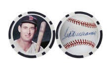 TED WILLIAMS / BOSTON RED SOX  - POKER CHIP - BALL MARKER ***SIGNED***