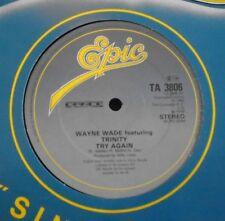 """WAYNE WADE ft TRINITY ~ Try Again ~ 12"""" Single"""