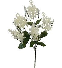 5 Cream Lilac Flowers Silk Wedding Bouquet Centerpiece Decorations Crafts Fake