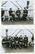 WG STAINER COLLECTION PAYMASTER OFFICERS ON HMY VICTORIA & ALBERT 1905