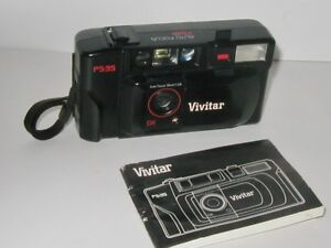 Vivitar P5-35 Camera PARTS ONLY Not working Booklet Attached Flash
