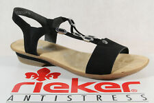 Rieker Damen Sandale Sandalen Sandalette Sandaletten schwarz NEU!!