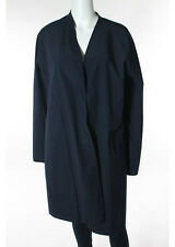 NWOT SHAMASK Blue Green Long Cardigan Apron Front Raincoat Sz 3 $1593