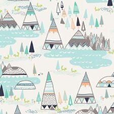 New Art Gallery Woodland Pine Indian Summer Fabric Rustic Teepee's 1 Yard