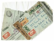 Senegal 1945 Censored Cover to USA, Pasted to Album Page -  Lot 101617